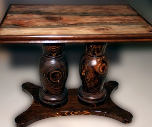 Wooden Table Double Base